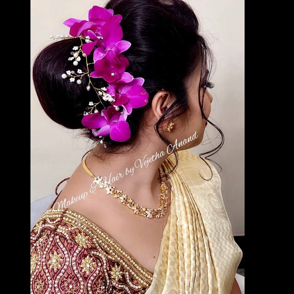 pretty bridal hairstyle by vejetha for swank. bridal hair