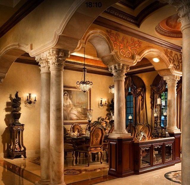 Luxury Fine Home Interior: Dining Room. ..Beautiful