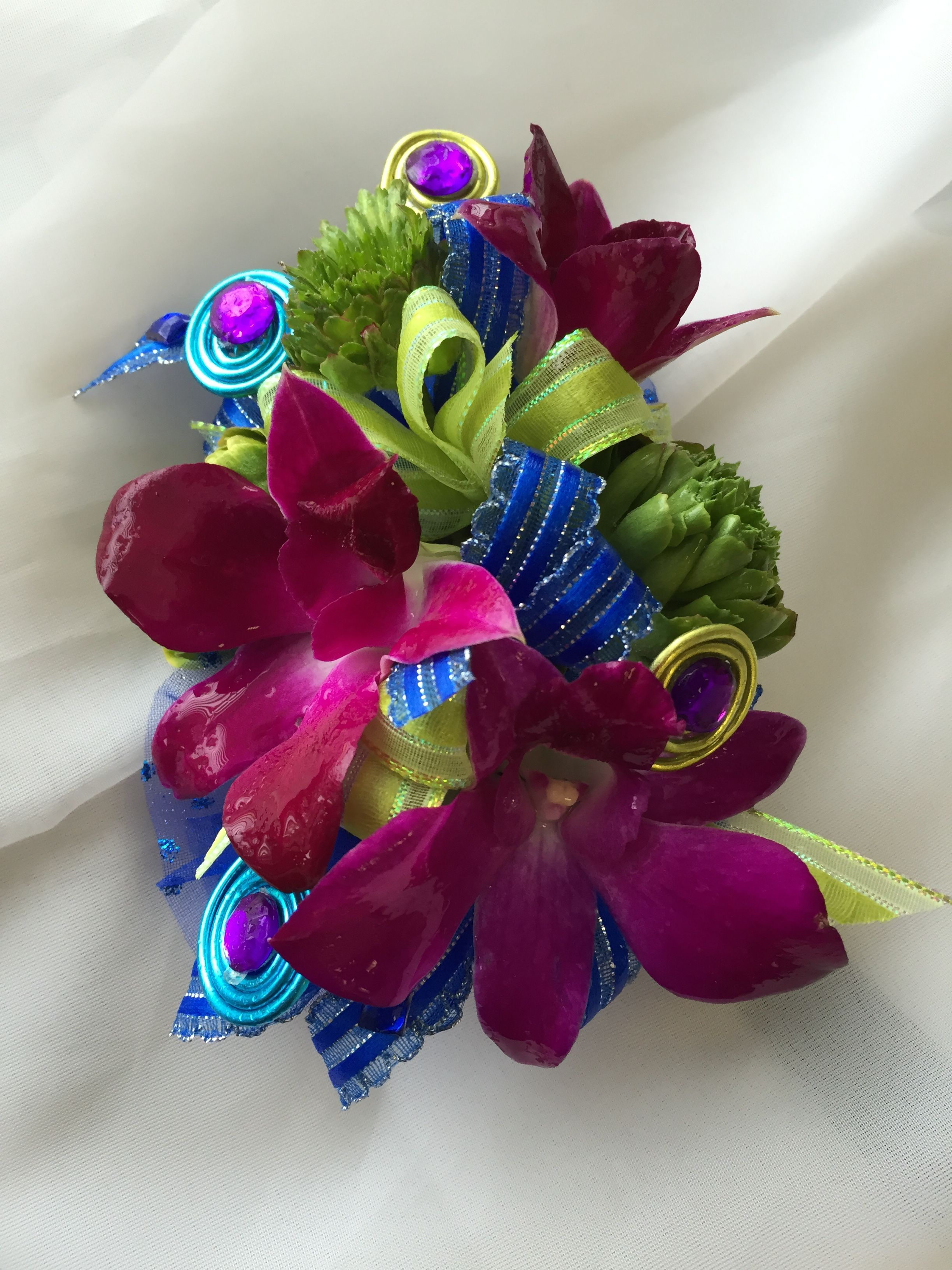 Prom Corsage Homecoming Corsage Bright Bold Jewel Tone