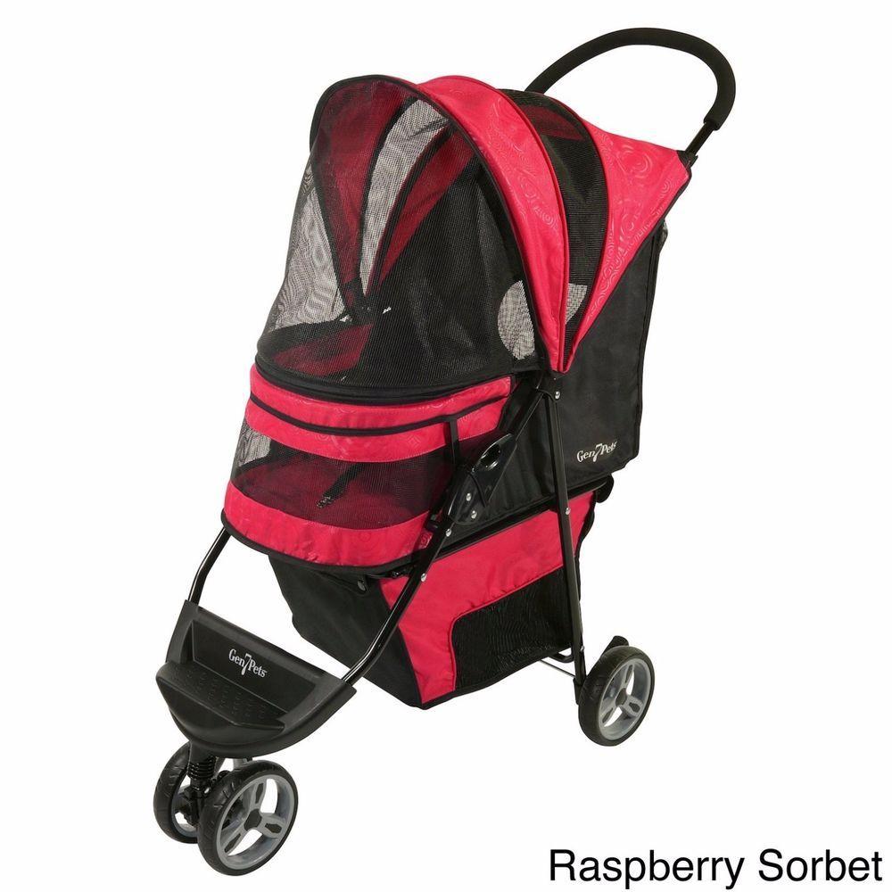 Gen7Pets Regal Cat Medium Dog Pet Stroller Travel Folding