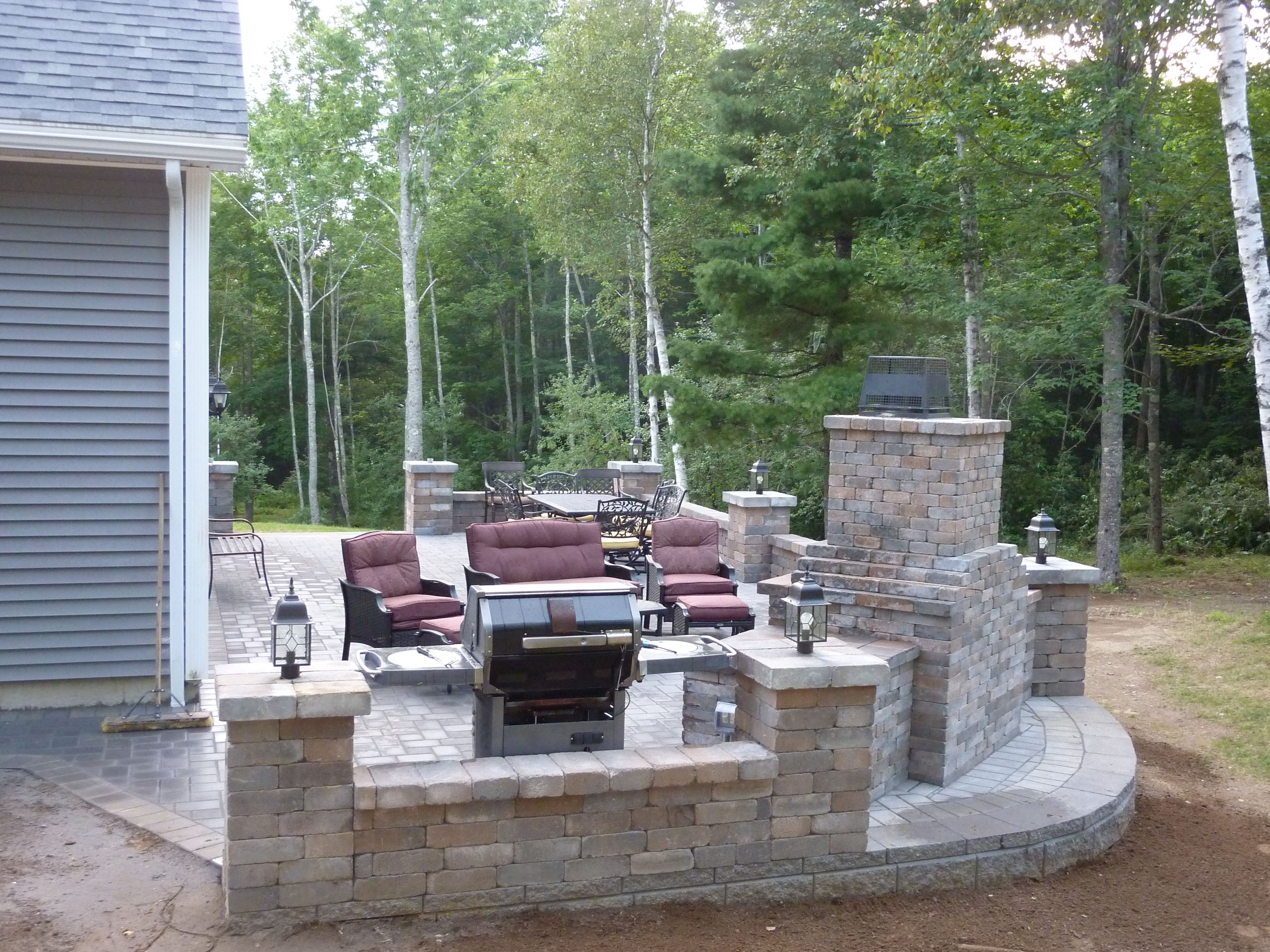 unique patios and back yards pictures | Large backyard stone work ...