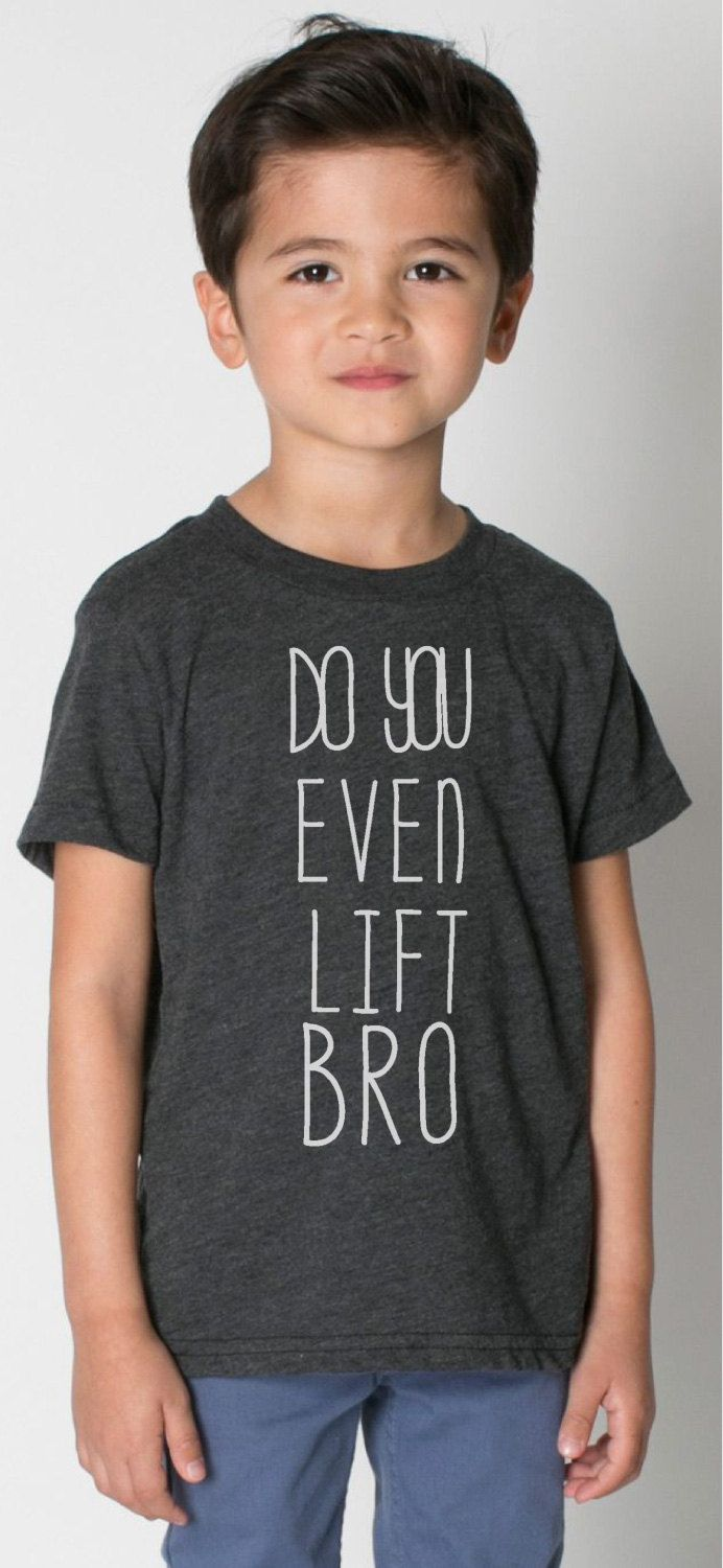 Hand-Drawn Do You Even Lift Bro American Apparel® Baseball Tees, Kid's, Baby, Toddler, Custom, Gift, Announcement, Photo, Sibling, Graphic by MGBpromo on Etsy