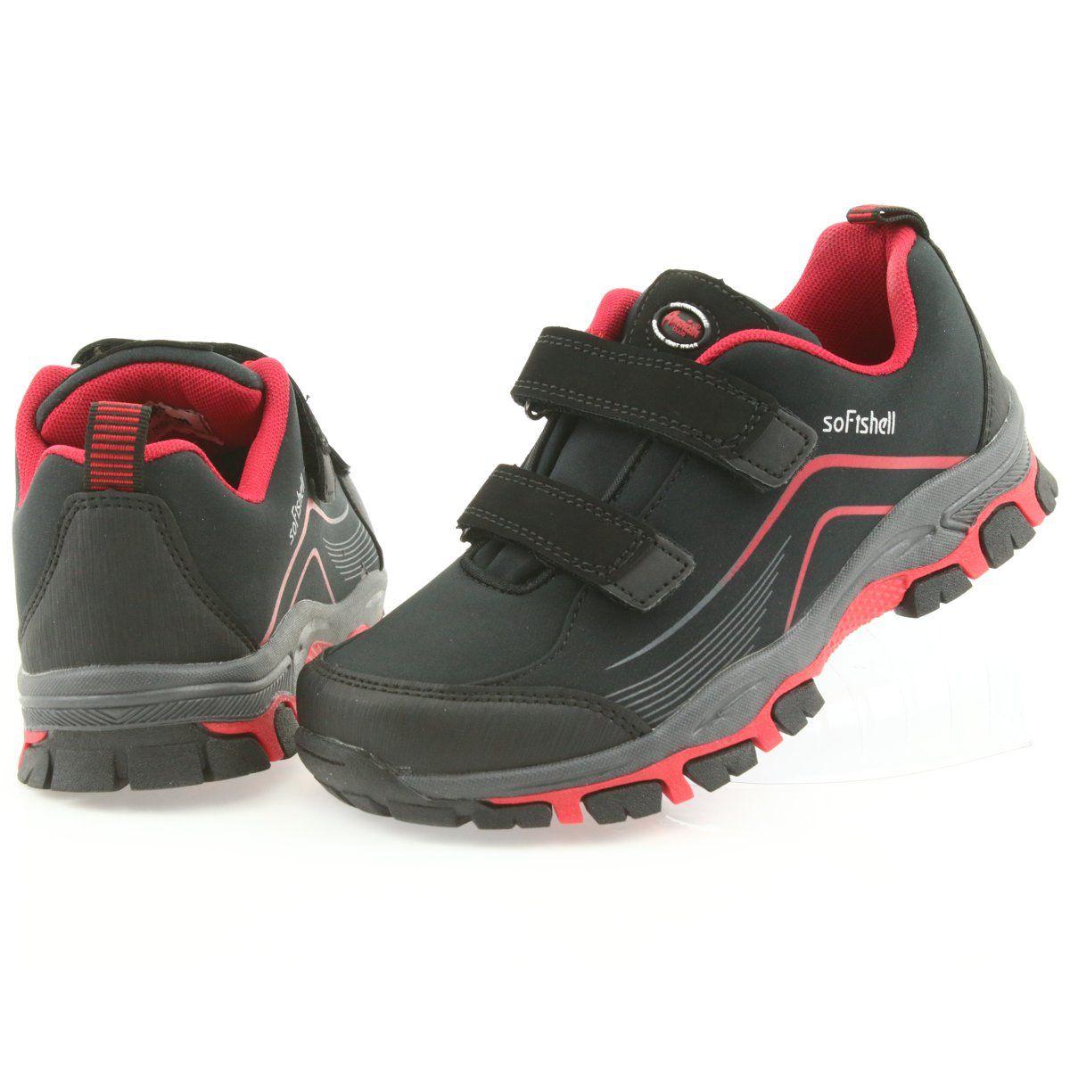 Adi Sportowe Buty Dzieciece Softshell American Club Wt09 19 Czarne Czerwone Kid Shoes Shoes World Shoes