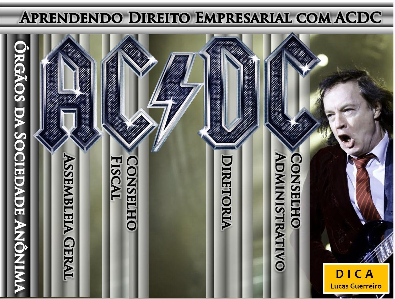 Dicas de Direito Empresarial  com ACDC