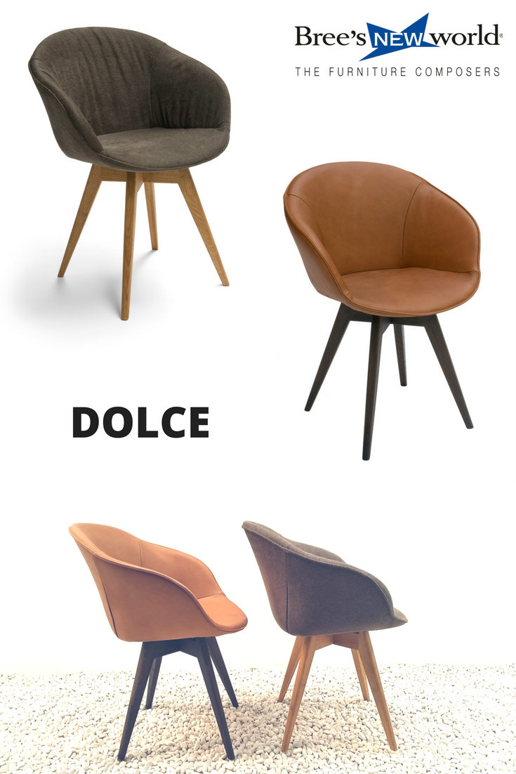 De kuipstoel Dolce op houten pootjes is mogelijk met noten- of ...
