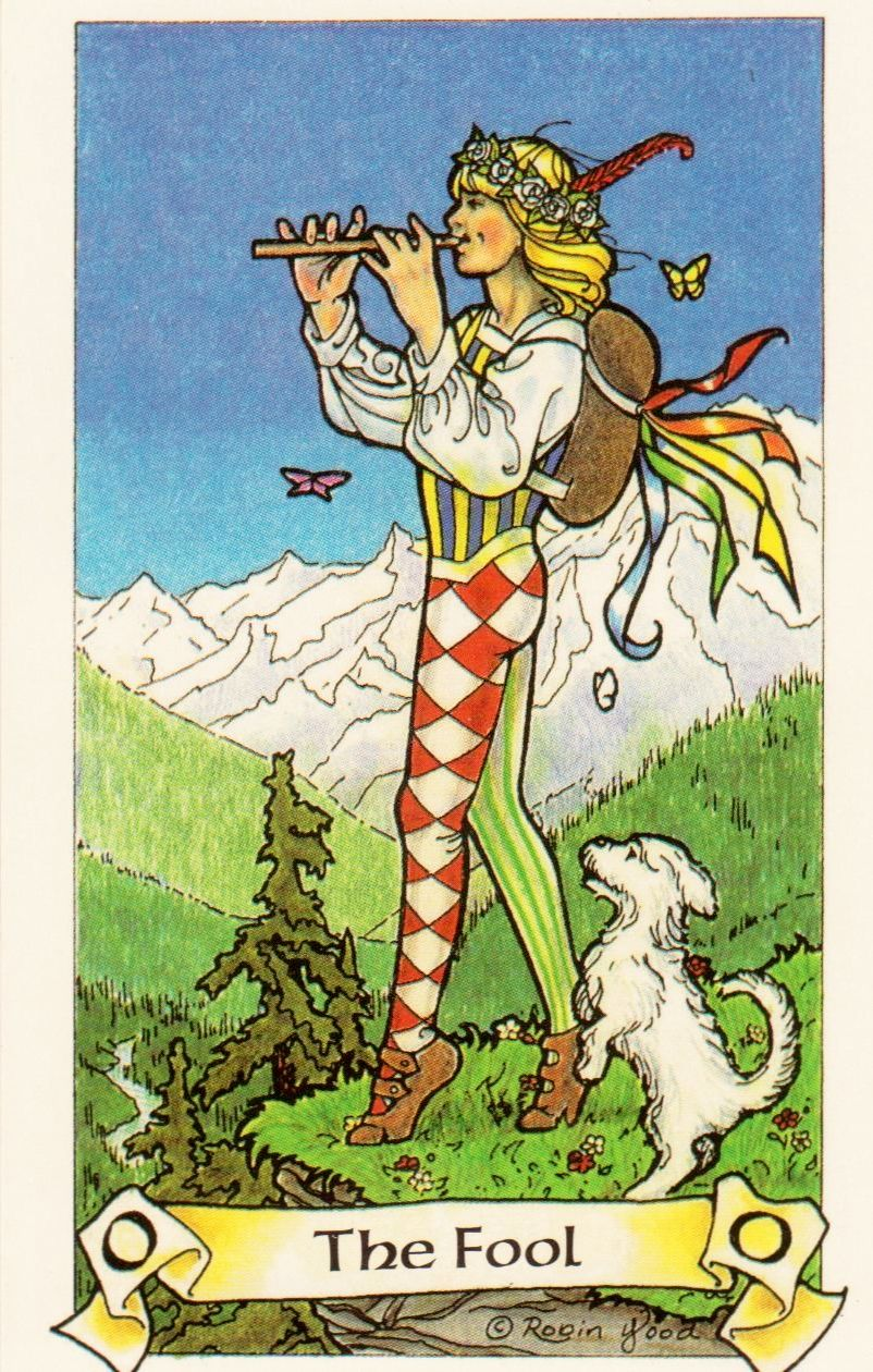 Fool From The Universal Waite Tarot: Card Of The Day: The Fool From Robin Wood Tarot
