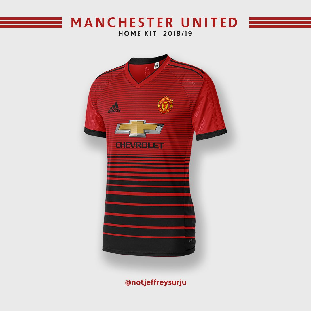 472779614 Manchester United Home Kit 2018 19 (unofficial version)  ManchesterUnited   home  kit  football  sports  club  Europe  England  premierleague  fanmade   art   ...