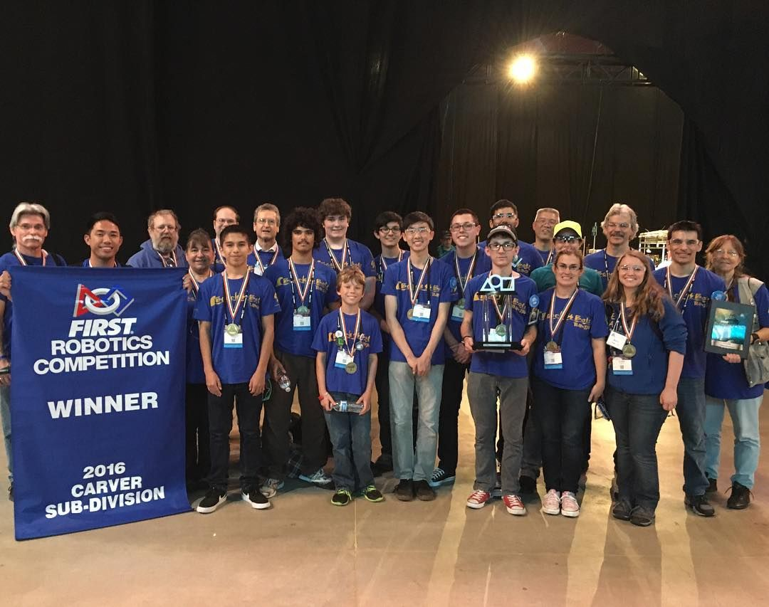 Carver division winners! - #Team330 #BeachBots #FRC #FIRSTrobotics #FIRSTchamp #MoreThanRobots #MakeItLoud #Stronghold #STLouis #Robotics #Robot #FIRSTinspires #Carver #Einstein by 330_beachbots