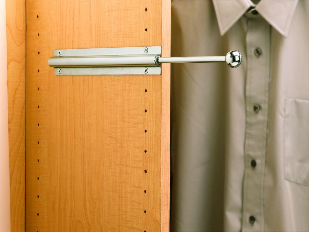 Rev-A-Shelf CVL-12 CVL Series 12 Inch Long Closet Valet Rods Chrome Closet Organizers Valet Rods Rack
