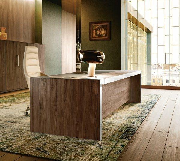 Stilvoller Schreibtisch aus Holz \u2013 Vogue von Sinerica #schreibtisch - designer arbeitstisch tolle idee platz sparen