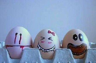 Scary Eggs Cool Easter Eggs Funny Eggs Funny Easter Eggs