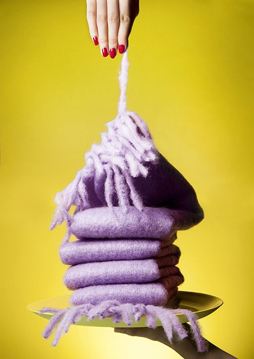 by Jessie Yip Knit Still life color fashion for Farts magazine