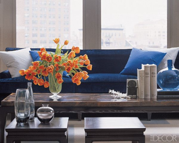 A Kitchen Table For Two Monday Blues House Of Fifty Living Room Colors Dark Blue Couch Living Room Color