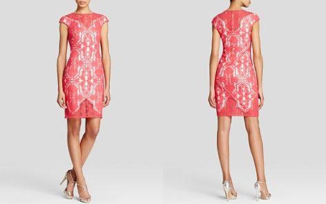 Tadashi Shoji Dress - Cap Sleeve Lace Shift