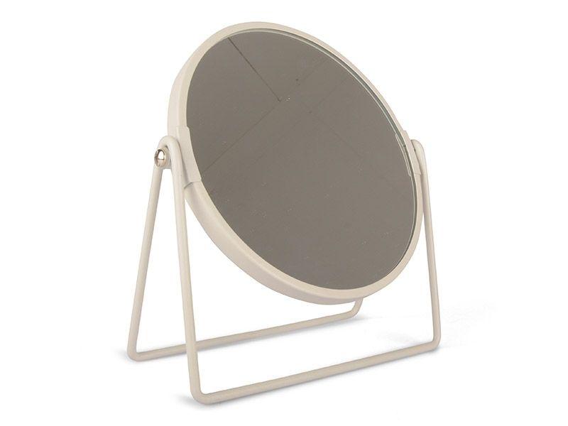 Lustro Metalowe Okrągłe Do Postawienia Rama Lustra W Kolorze Białym
