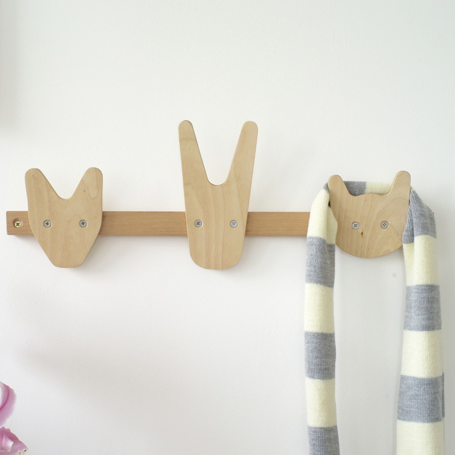 Cool coat hooks 1500x1500 the animals of whittling wood coat hooks the animals of whittling wood coat hooks contemporary kids decor other metro by the oak room amipublicfo Choice Image