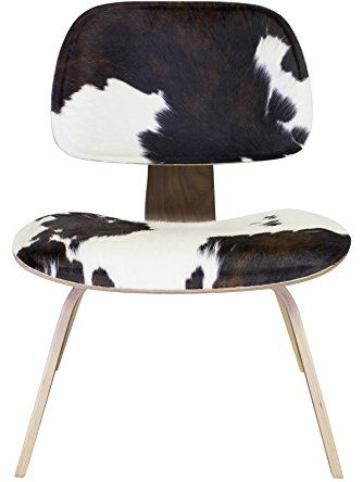Design Tree Home Eames Style Molded Plywood Lounge Chair, Cowhide ❤ Design Tree Home