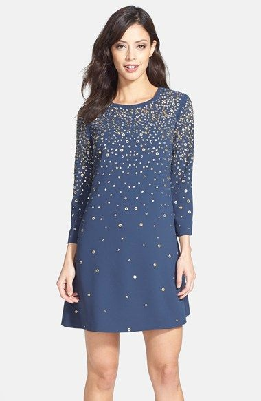 Cynthia Steffe Embellished Crepe Shift Dress available at #Nordstrom