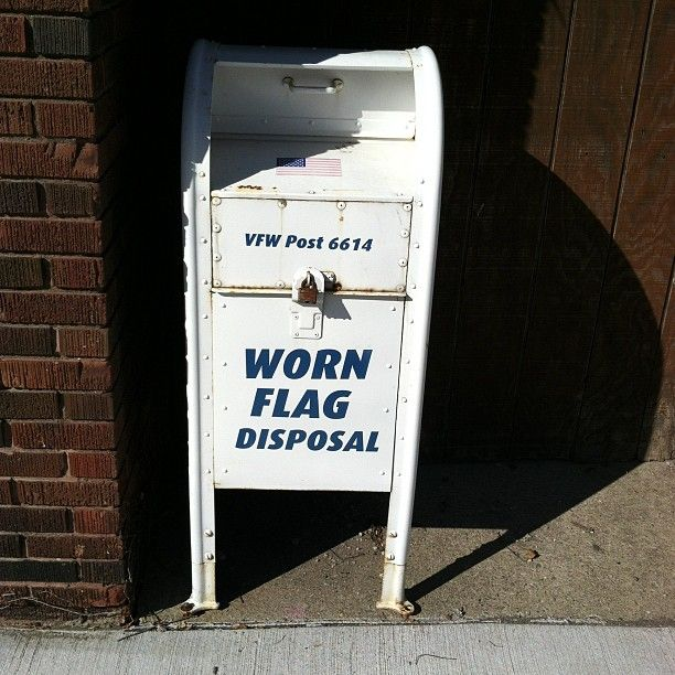 VFW Worn Flag Disposal    Photo by oakstreetbootmakers