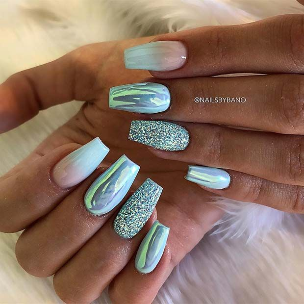Photo of 43 Beautiful Nail Art Designs for Coffin Nails   StayGlam