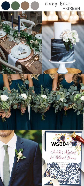 Top 5 vroege zomer marineblauwe bruiloftideeën — marine en groen tuinhuwelijksthema …