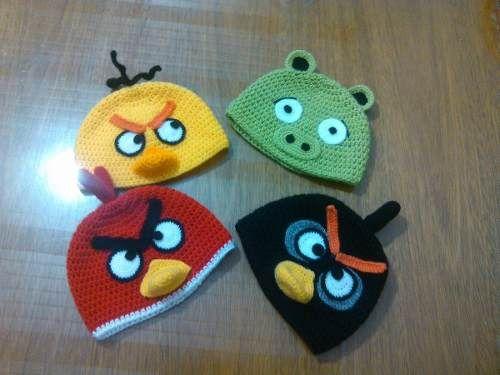 Gorros Angry Birds!! Tejidos Al Crochet La Plata - en MercadoLibre ... d4edd72dccf