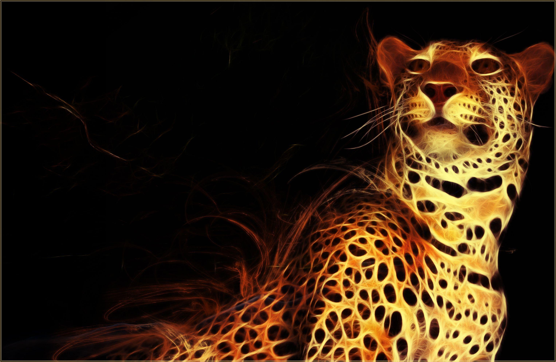 Jaguar Fractal Wallpaper By Pimart On Deviantart Animals