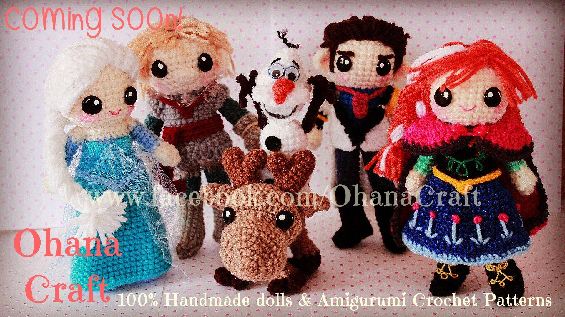 Crochet Frozen Doll : Crochet Frozen dolls and patterns ---- Queen Elsa crochet ...
