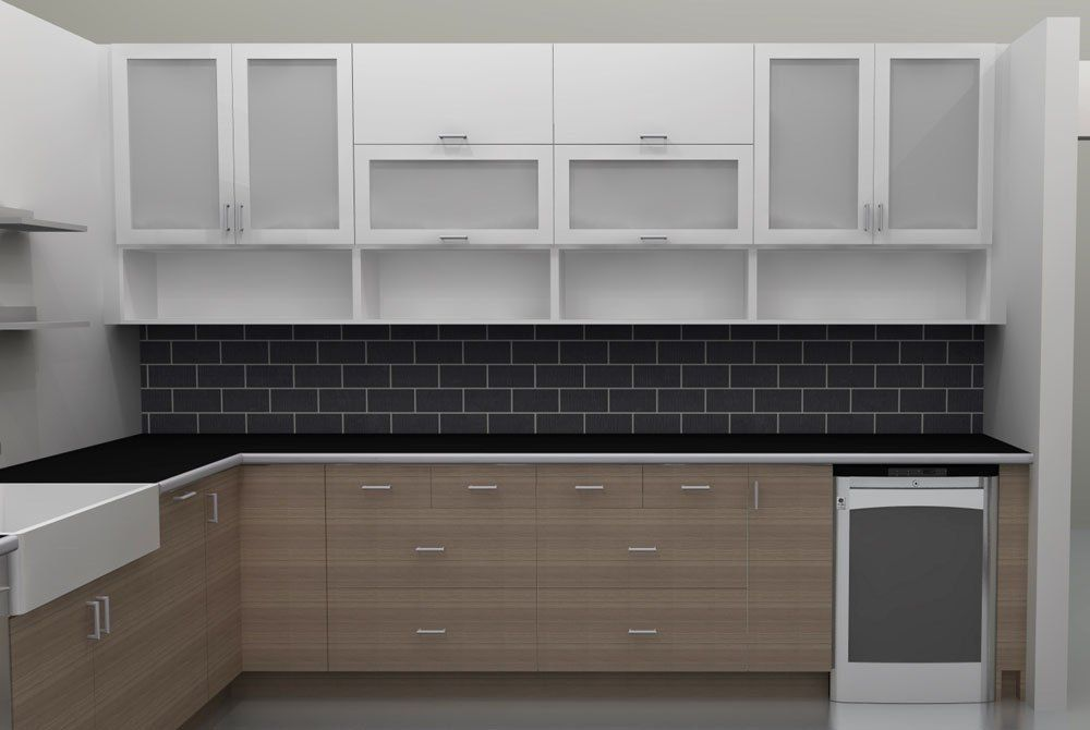 Picture of Modern Kitchen Cabinet Glass Door Lovely Kitchens