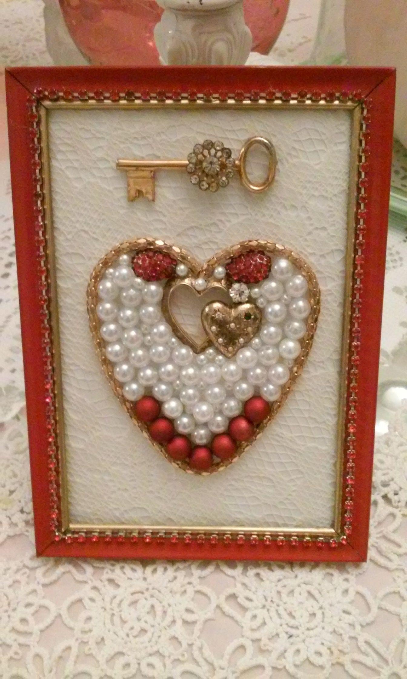 Key to my Heart | Craft Ideas | Pinterest | Cuadro, Botones y Adornos