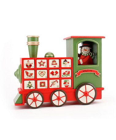 Wooden Train Advent Calendar by Christmas in July: Decorations & Candles on #zulilyUK today!