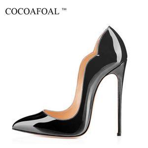 fcf1ac0e2bb COCOAFOAL Stiletto Mujer Zapatos púrpura talla grande 34-43 Sexy fiesta  boda tacones Ultra altos