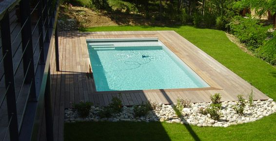 Piscine 12x5 m avec plage et liner piscine pinterest - Prix d une piscine caron ...