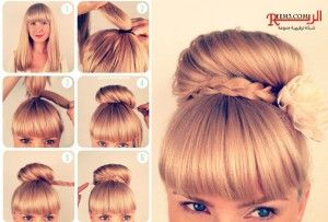 تسريحات شعر مرفوع خطوات بالصور Hairstyles Upped Diy Hairstyles Easy Hairstyles Hair Styles