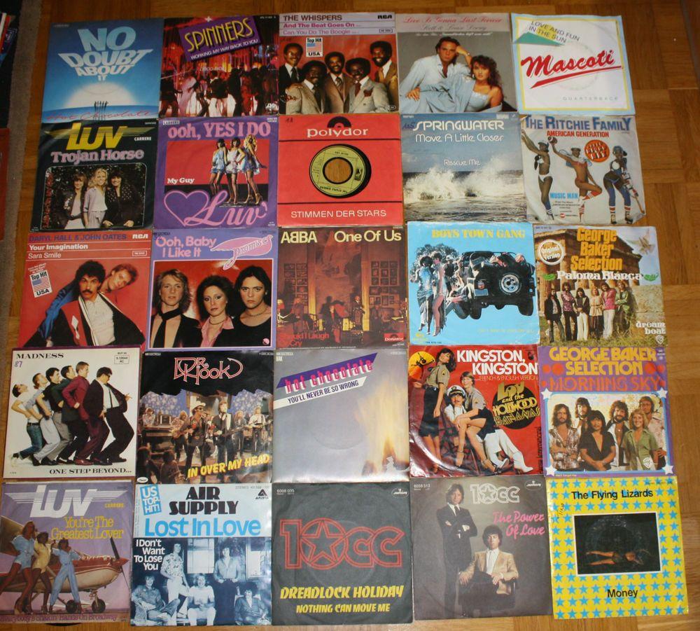 25x Vinyl 7  Singles Rock Pop Paket 3