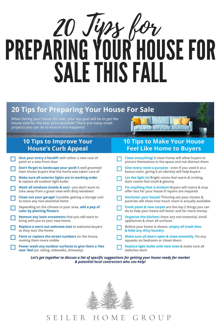 20 Tips For Preparing Your House This Fall Seiler Home Group List Real Estate Ing