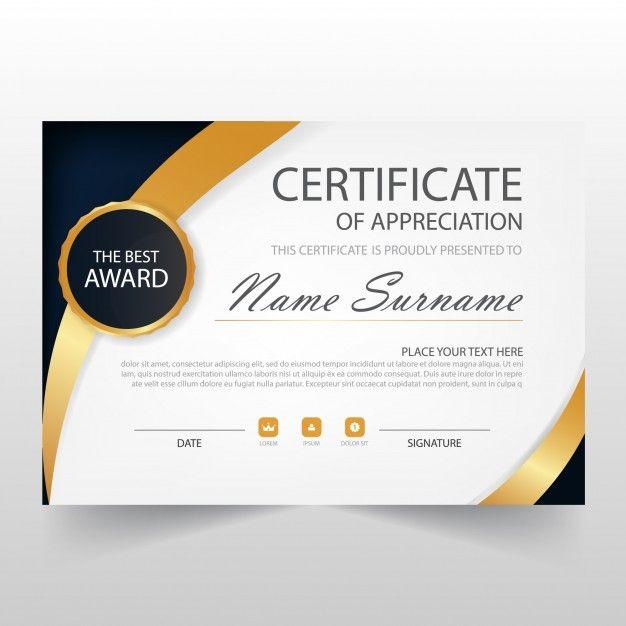 Download Elegant Horizontal Certificate Template For Free