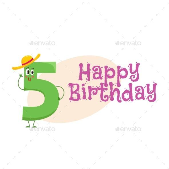 Happy Birthday Vector Greeting Card Design with Greeting card template - greeting card template