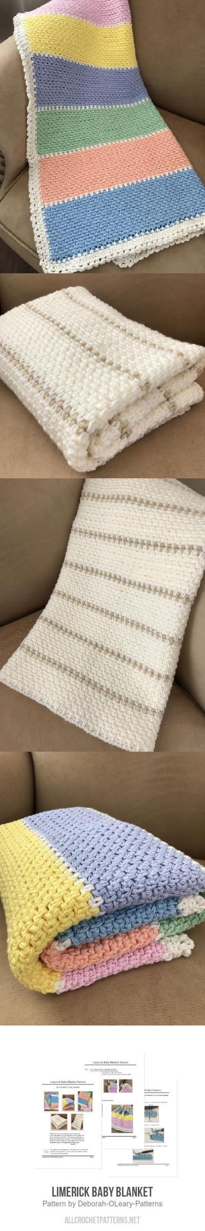Limerick Baby Blanket crochet pattern by Deborah O\'Leary Patterns ...