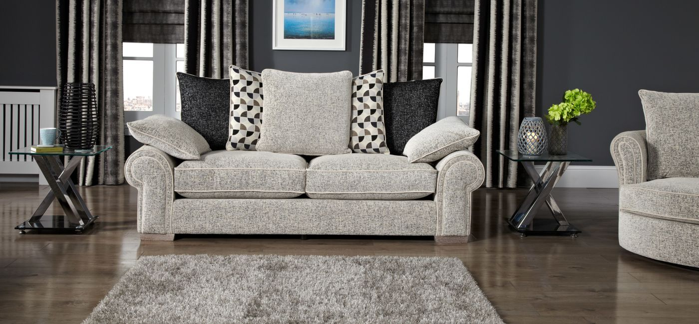 Leather Sleeper Sofa Buzz Seater Sofa Scatter Back