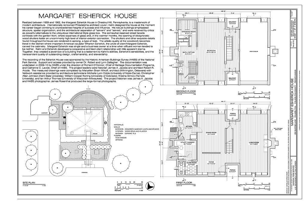 L. Kahn Eshrick House 1959-62 (1024×683) | Archi Drawings ...