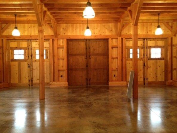 Lighting Basement Washroom Stairs: Concrete Barn Floor