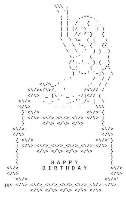 Facebook Ascii Art : facebook, ascii, Happy, Birthday, ASCII, Facebook, Wonderful, Ascii