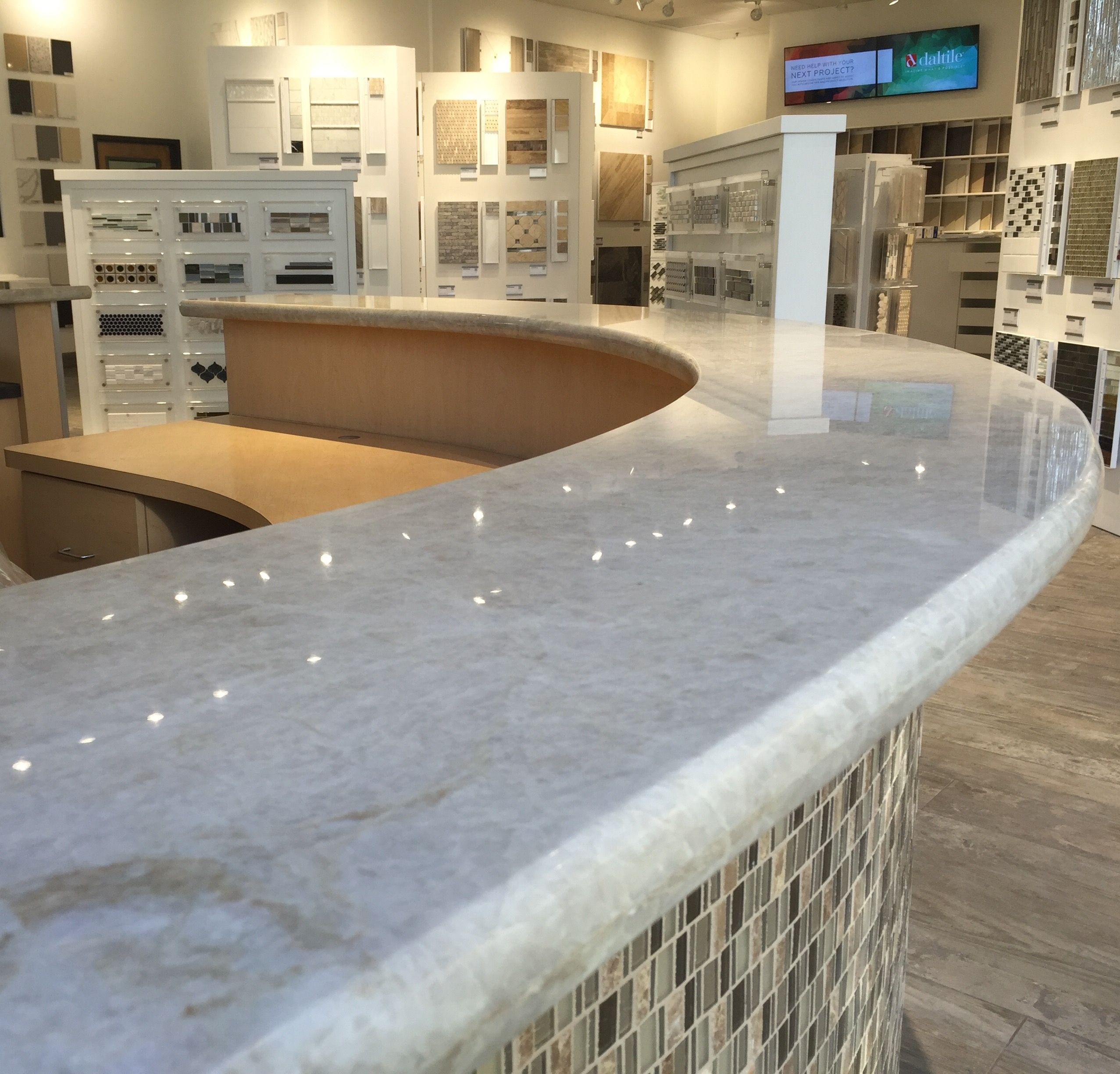 Curve Desk Fabricated And Installed By Alpha Marble And Granite Curved Desk Countertops Installation