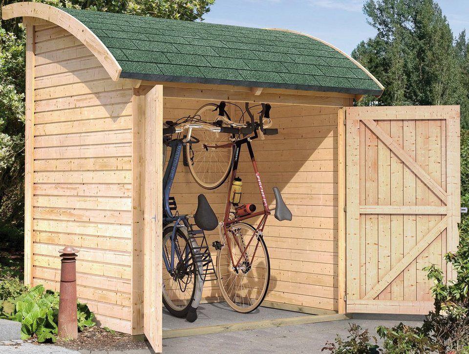 karibu fahrradunterstand aus holz b t h 185 225 155 cm garten fahrrad unterstand. Black Bedroom Furniture Sets. Home Design Ideas