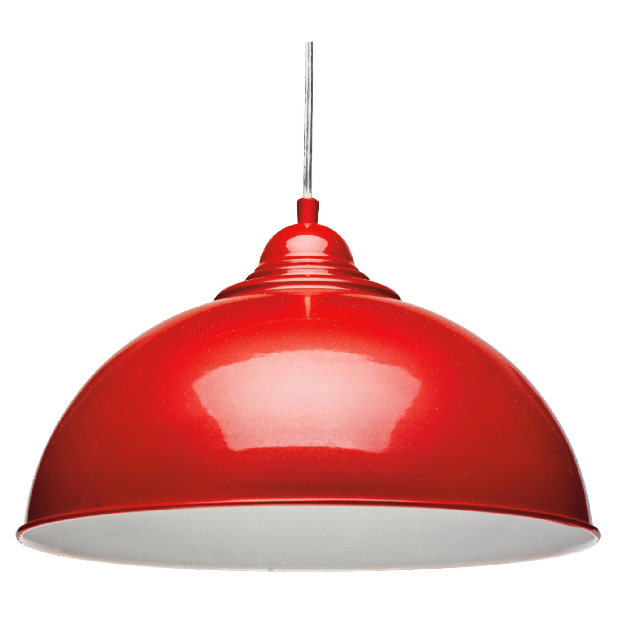 Retro Pendant Light Fitting In Red