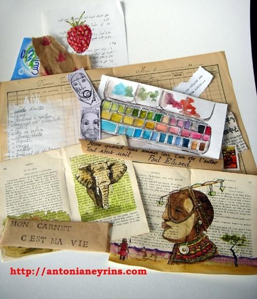 Antonia Neyrins travel sketchbook/carnet de voyage.