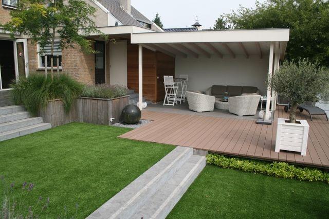 Afbeeldingsresultaat voor tuin met overkapping tuin for Moderne tuin met overkapping