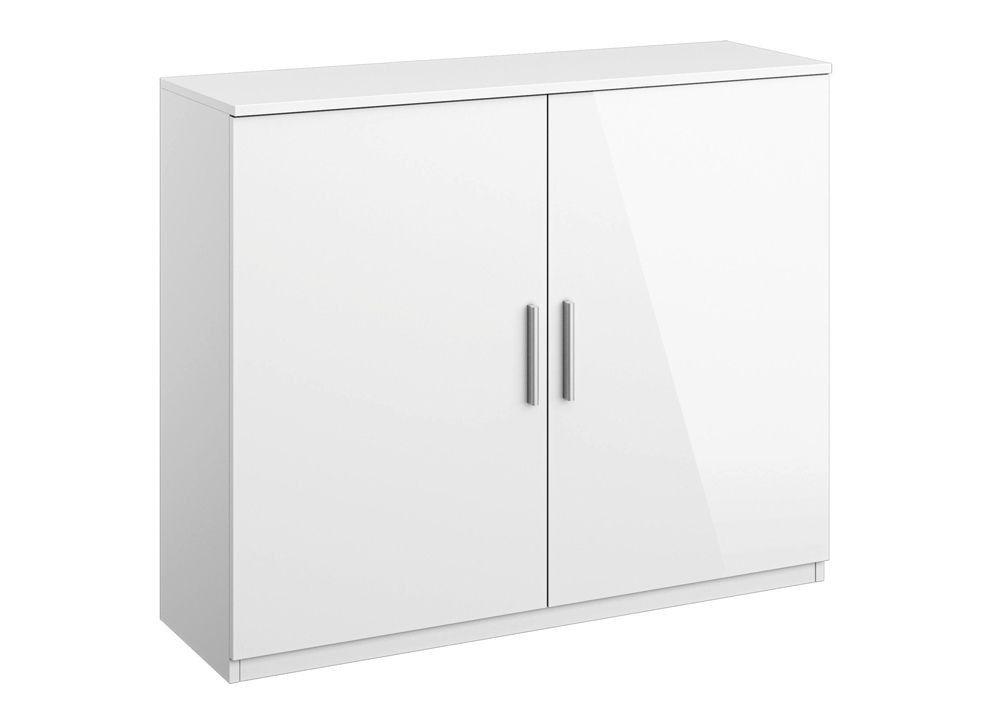 Kommode Celle mit 2 Türen Alpinweiß Hochglanz Weiß 8292 Buy now at - schlafzimmerschrank weiß hochglanz