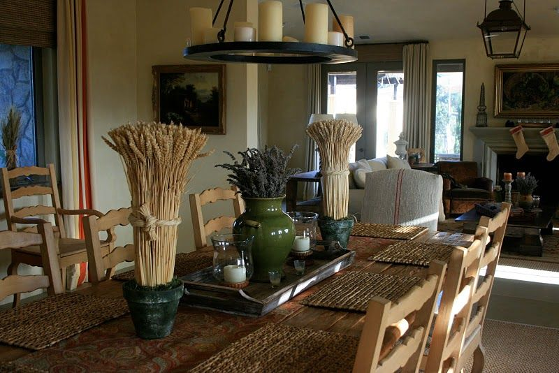 Rustic Country Living Rooms And Vignette Designe Delores Arabian Wine Home Dining Room Farm Table Chairs Round Candle Chandelier